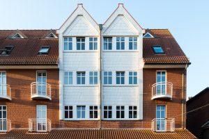 Ferienwohnung App. 201 in der zweiten Etage der Inselresidenz Strandburg Juist von außen
