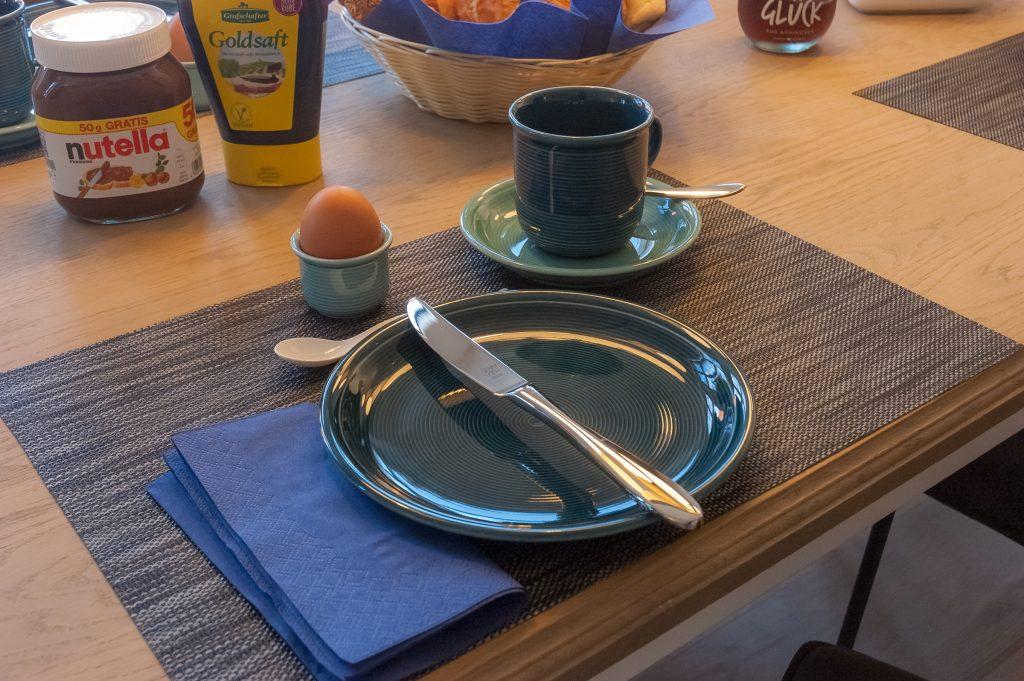 Frühstücksgedeck im App. 201 Juist-Traum